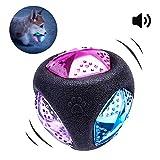 PEDOMUS Hundespielzeug Ball mit LED Licht und Squeaker, Hundeball Hundebälle, Spielzeug für Hunde, Spielball für Hunde, leuchtet in wechselnden Farben, aus thermoplastischem Gummi. Ø 7,6 cm