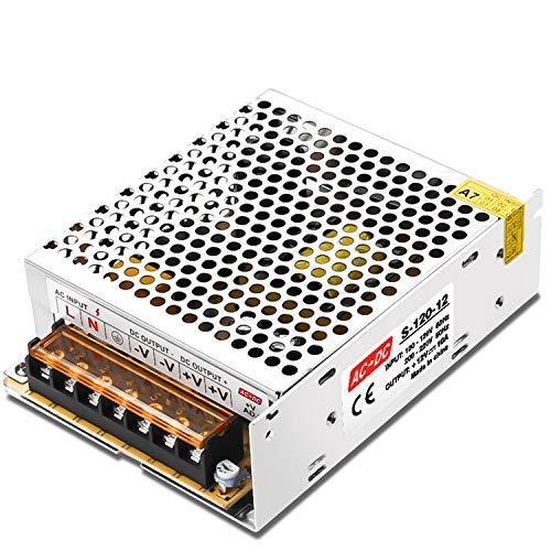 LEDMO 12V 10A Convertisseur AC 110/220V to DC Commutation Alimentation 120W pour CCTV,Radio,Projet Informatique, LED Light Strings