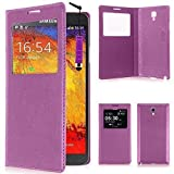 VCOMP Etui Housse Coque Flip Cover View Compatible pour Samsung Galaxy Note 3...