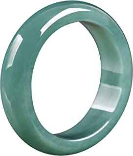 Chinese Natural Jade Ring Band for Women, Size 14mm-20mm