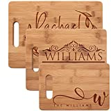 Personalized Cutting Board, Bamboo Cutting Board - Personalized Gifts - Wedding Gifts for the Couple,...