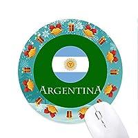 アルゼンチンサッカー 円形滑りゴムのマウスパッドクリスマスプレゼント