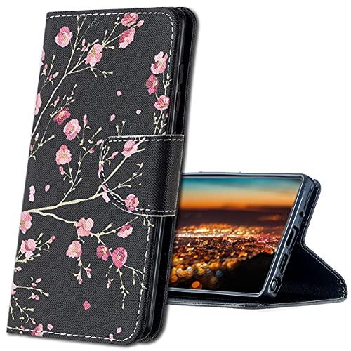 MRSTER Cuir Premium Coque pour Huawei Mate 20 Pro, Durable Léger Classique Conçu Étui en PU Cuir Portefeuille Etui Housse pour Huawei Mate 20 Pro. HX Pink Flower