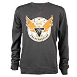 JINX Tom Clancy's The Division 2 Sharpshooter Crew Neck Pullover Sweatshirt, Charcoal Heather, Small