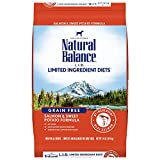 Natural Balance L.I.D. Limited Ingredient Diets Dry Dog Food, Salmon & Sweet Potato Formula, 24 Pounds, Grain Free