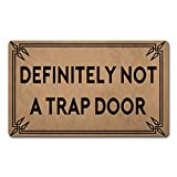Z plus Welcome Mats 30'(L) x 18'(W) Personalized Funny Door Mats for Entrance Way/Kitchen Rugs and Mats/Front Door Mats Anti-Slip Rugs (Definitely Not a Trap Door)