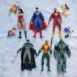 Jubasix Superhero Action Figures - 6 PCS Action Figure Set PVC Figure Hero Cake Toppers Toys for Kids Gift