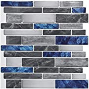 "Art3d 10-Sheet Premium Self-Adhesive Kitchen Backsplash Tiles in Marble, 12""X12"""