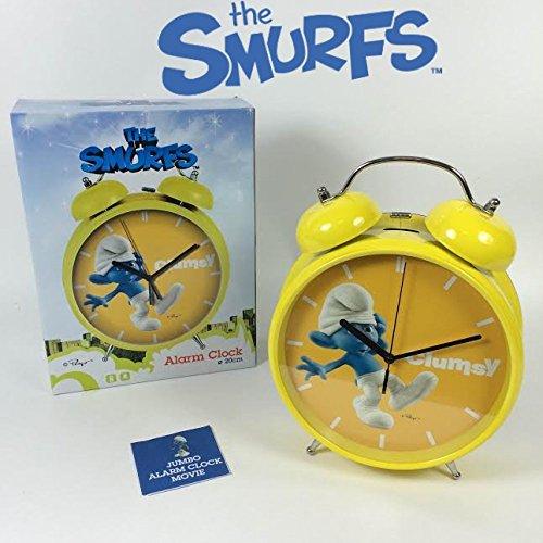 myshopberlin XXL Schlumpf Wecker Uhr DIE SCHLÜMPFE THE SMURFS Alarm Clock Ø20cm