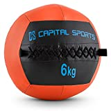 Capital Sports Wallba 6 Palla Medica Wall Ball 6 kg in Similpelle...