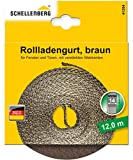 Schellenberg 41204 - Correa de persiana (14 mm, 12 m), color marrón
