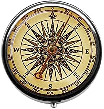 Old Compass Pill Box Vintage Compass Candy Box Steampunk Retro Nautical Candy Box