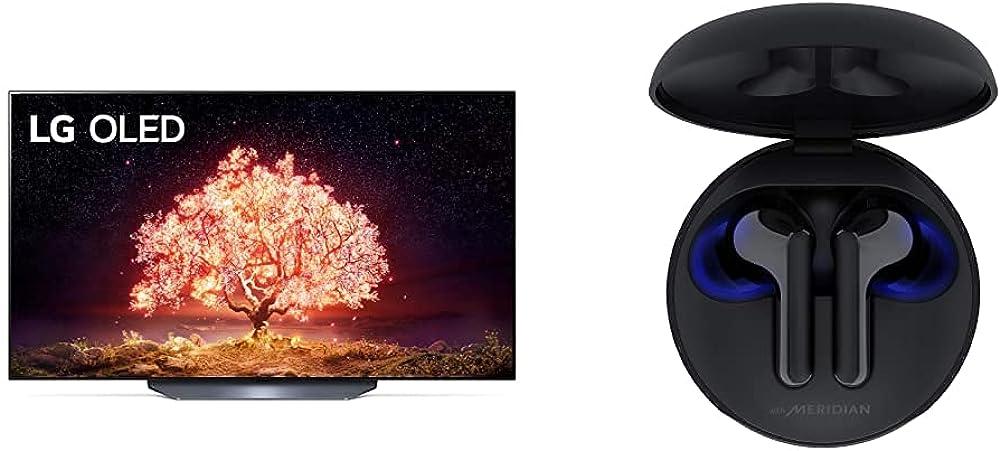 Lg smart tv 4k 55 pollici tv oled serie b1 2021 con processore ?7 gen4 dolby vision piu` cuffie nere OLED55B16LA.APID