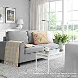 Pukami 54'' Small Loveseat Sofa Couch for Living Room, Small Modern Couch with Linen Fabric, Love Seats 2-seat Sofa Couch Space Saving for Small Space,Upstairs loft,Small Apartment,Dorm