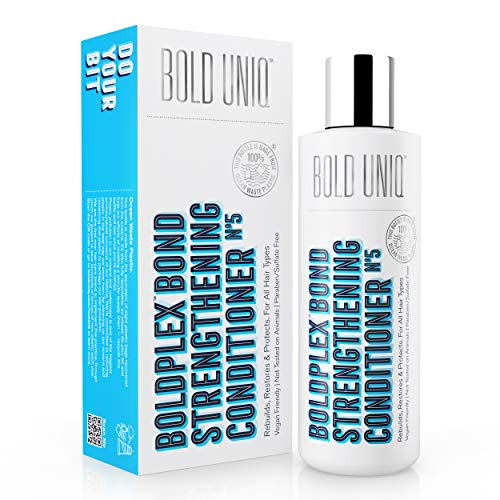 Bold Plex No.5 Bond Strengthening Protein Conditioner for Dry Damaged hair - Hydrating Formula for Curly, Dry, Colored, Frizzy, Broken or Bleached Hair Types. Cruelty-free & Vegan