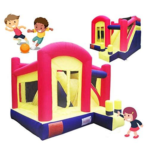 NMDD Hüpfburgen Sportspielzeug Kinder Kinder Hüpfburgen Home Indoor-Trampolin bietet Platz für 7-10 Personen Kinderspielburg (Farbe: Rot, Größe: 400 * 360 * 280 cm)