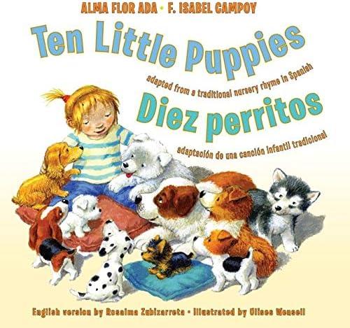 Ten Little Puppies Diez perritos Bilingual Spanish English Children s book product image