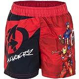 Characters Cartoons Marvel Avengers - Bambino - Costume da Bagno Pantaloncino Boxer Slip Parigamba Mare Piscina - Primavera Estate - Licenza Ufficiale [1896 Rosso - 4 Anni]