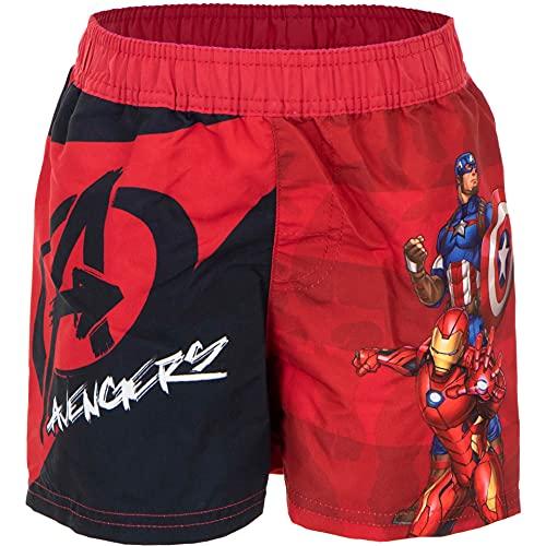 Pantaloncini Mare Avengers Costume da Bagno Iron Man Captain America Estate (Rosso 1896, 8 Anni, 8_Years)