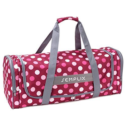 SEMPLIX Plottertasche, die optimale Aufbewahrungs- und Transport-Tasche für Hobby Plotter samt Zubehör (Beere/rosa)