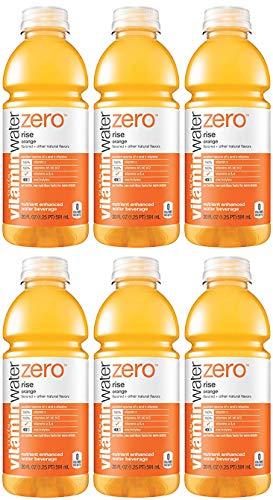 Vitamin Water Zero, Orange - Rise, 20oz Bottle (Pack of 6)