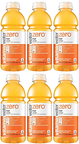 Vitamin Water Zero, Orange - Rise, 20oz Bottle (Pack of 6)
