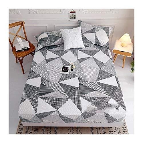TYLJ MYBHD Polyester Printed Matratze Set mit Vier Ecken und Gummiband Sheets (Color...