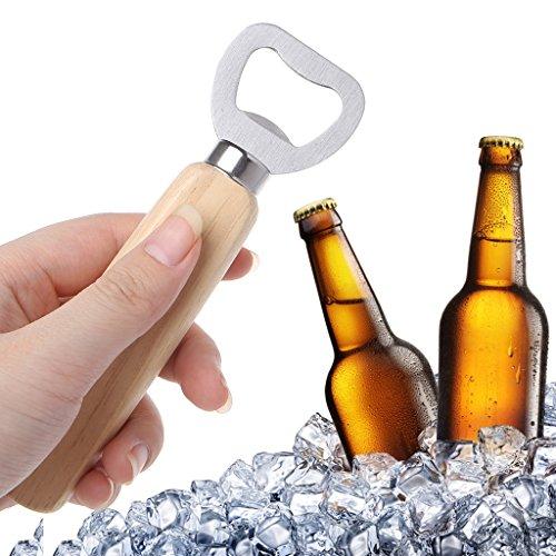Freshsell hout handvat barman fles opener voor het openen van bier Cider zachte dranken