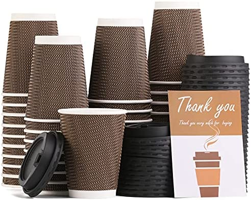 Top 10 Best disposable coffee cups with lids 12 oz Reviews