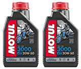 RS Motul 3000 4T 20W50 Aceite mineral para motor de motocicleta, Road V-Twin, Harley Davidson, 2 litros
