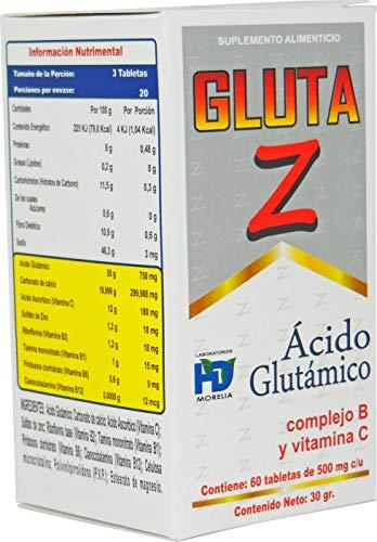 tablet morelia fabricante Gluta Z Acido Glutamico