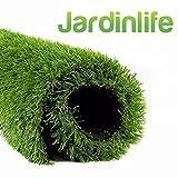 JARDINLIFE Césped Artificial Amsterdam Rollo de 1x5 m de 40 mm para Exterior e Interior, Niños y Perros