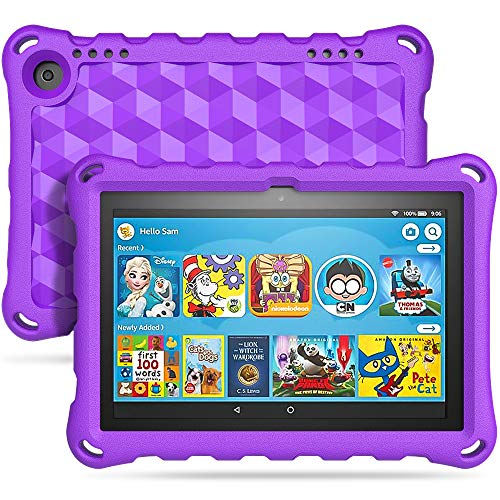 TiMOVO Funda Compatible con All-New Fire HD 8 Tablet (10th Generation, 2020 Release), Portátil Prueba de Choques Ligera Kids Protector Compatible con Fire HD 8 & 8 Plus 2020 Tableta - Morado
