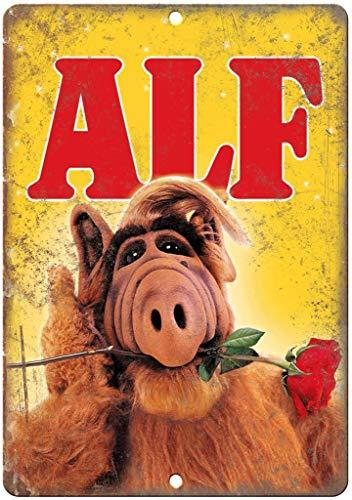 Hslly ALF Extraterrestial TV Show Vintage Blechschilder Dekoration Vintage Metall Stil Schild Retro Aluminium Poster Für Cafe Bar Film Geschenk Hochzeit Geburtstag