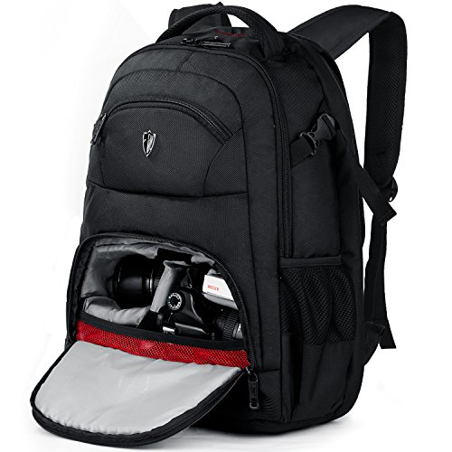 """Victoriatourist DSLR Camera Backpack with Laptop Bag Waterproof Rain Cover Fits Most Laptops, 15.6"""", Black"""