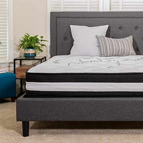Flash Furniture Capri Comfortable Sleep 12 Inch Foam and Pocket Spring Mattress, Twin Mattress in a Box