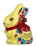 Lindt Goldhase Blumen Edition - Premium Vollmilch-Schokolade zu Ostern, 4er Pack (4 x 200 g)