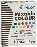 3 Boxes: Pilot Parallel Pen Ink Refills for Calligraphy Pens, Assorted Colors, 12 Cartridges per...