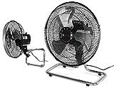 Starline Ventilador para Suelo y Pared 12' 30.48cm 50W 220V con OSCILACION Soporte Y ASPAS DE Metal 3 velocidades de Aire Ajustable en Inclinacion Metalico para Colgar Alta Potencia