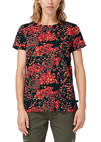 Q/S designed by - s.Oliver Damen 41.909.32.5478 T-Shirt, Schwarz (Grey/Black AOP 99a5), M