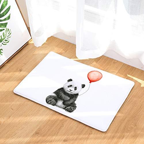 HLXX Panda Cute Animal Printed Rectangular Mat Entrance Door Mats Washable Kitchen Floor Bathroom Anti-slip Mats Rugs A2 40x60cm