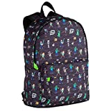 Toy Bags- Minecraft Negra Estampada Juguetes, Multicolor, Grande (T433-834)