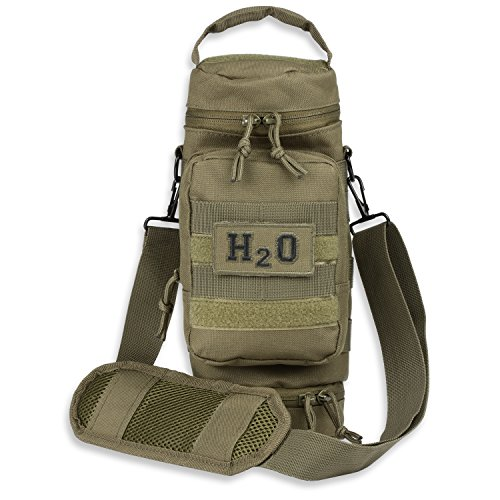 Orca Tactical Military MOLLE H2O Water Bottle Pouch Hydration Carrier (OD Green)