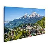 Bild auf Leinwand historische stadt berchtesgaden watzmann