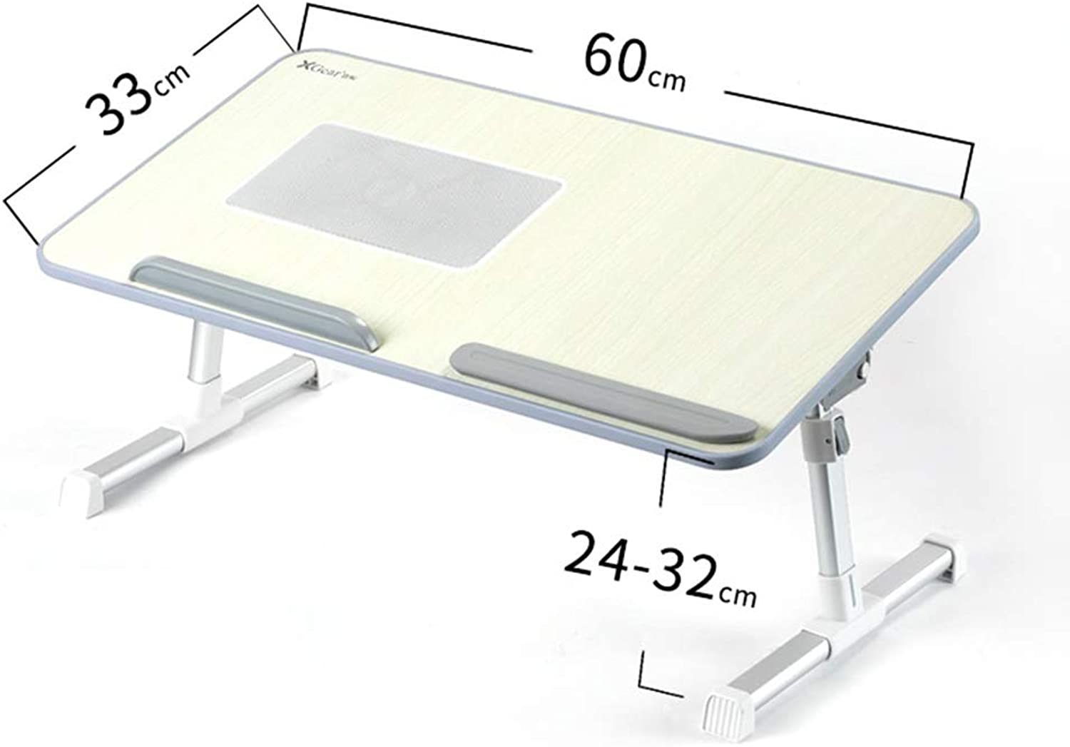 Computer Desk, Foldable Bed Desk Game Table with Radiator Fan Multi-Functional Dormitory Small Table Portable Table (color   C)