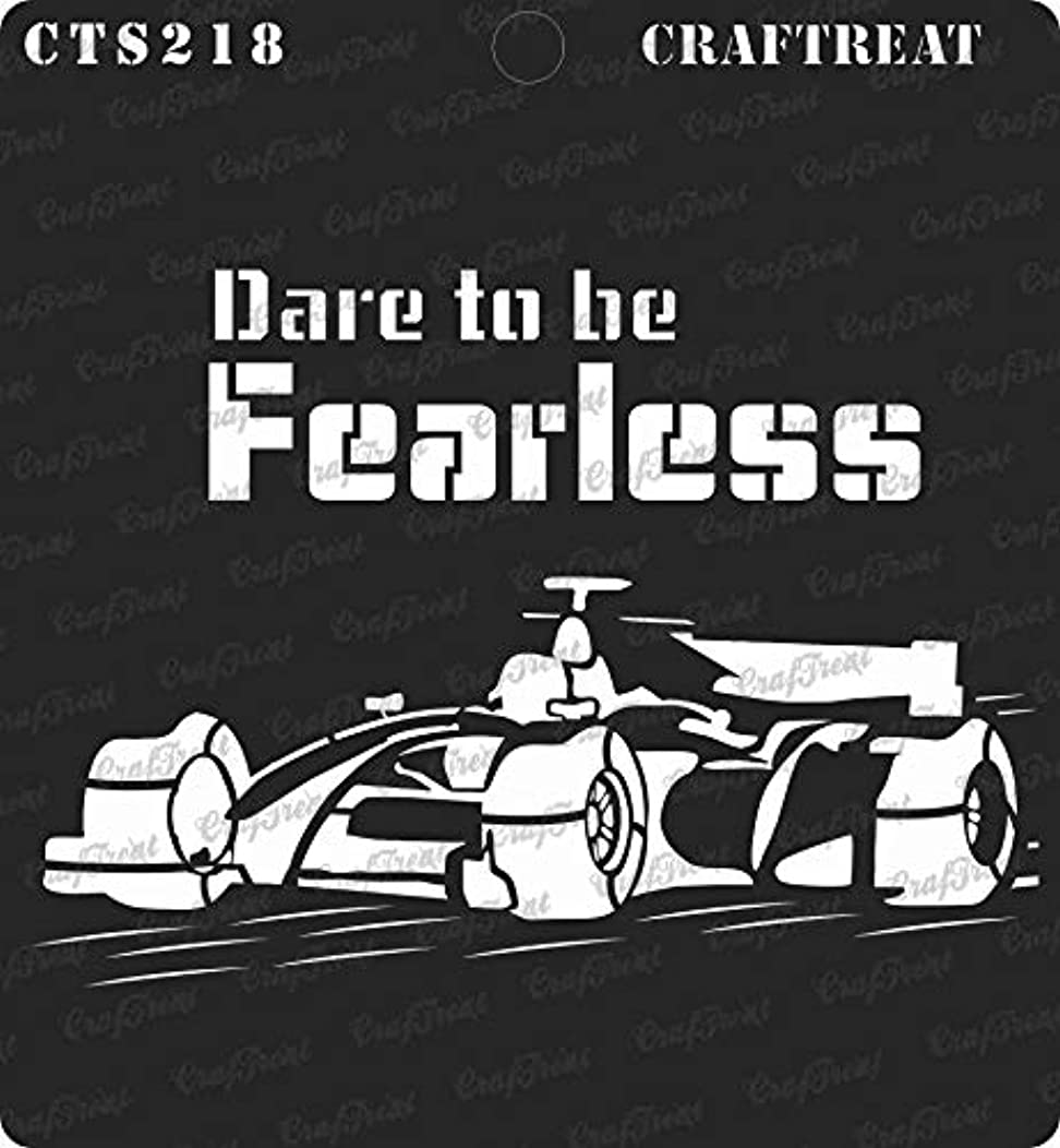 CrafTreat Stencil - Dare to be Fearless   Reusable Painting Template for Journal, Home Decor, Crafting, DIY Albums, Scrapbook and Printing on Paper, Floor, Wall, Tile, Fabric, Wood 6