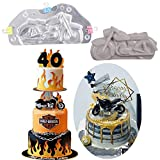 WYD 3D Motorcycle Chocolate Candy Mould Fondant Chocolate Jelly Cake Mold for DIY Home Baking Tool