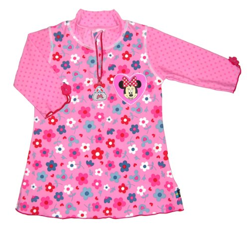 Swimpy Mädchen UV Schutz Badeshirt Minnie Mouse Van Disney, Rosa, 7-8 Jahr