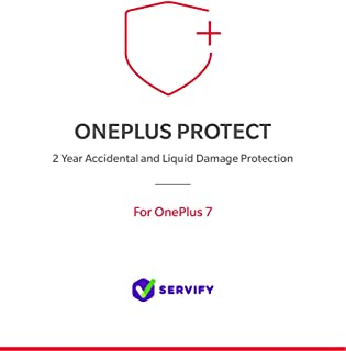 Servify OnePlus Protect - 2 Year Accident and Liquid Damage Protection Plan for OnePlus 7 (8GB + 256GB)