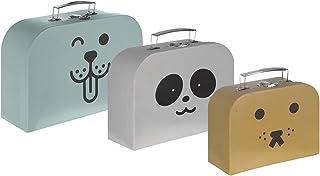 Kindsgut Speelgoedkoffer-set, 3 formaten, draagbaar, dieren